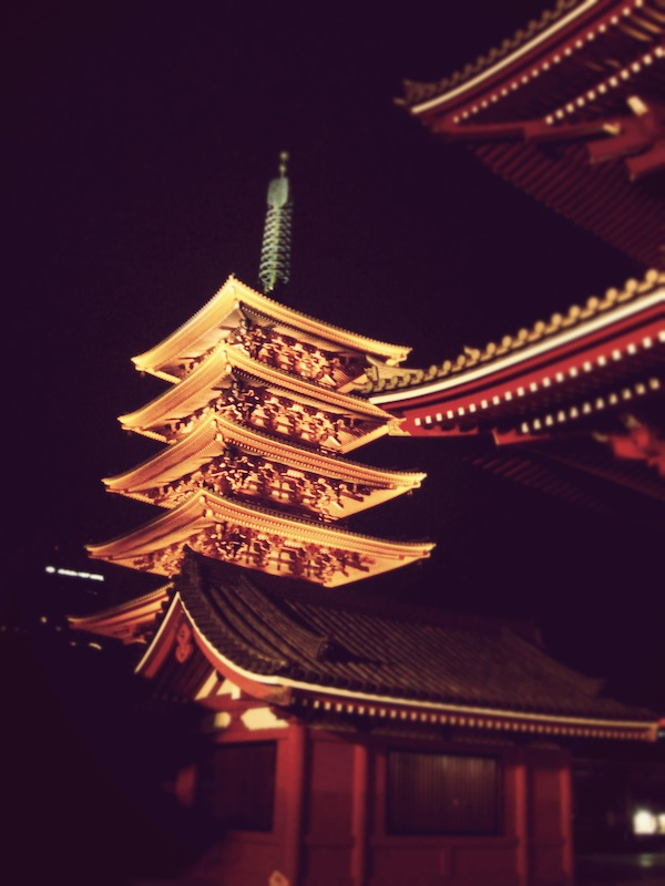 Lighted Senso-ji Temple (Asakusa Kannon)