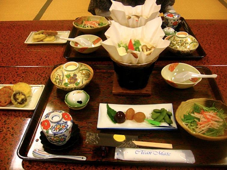 Mitakesan ryokan food