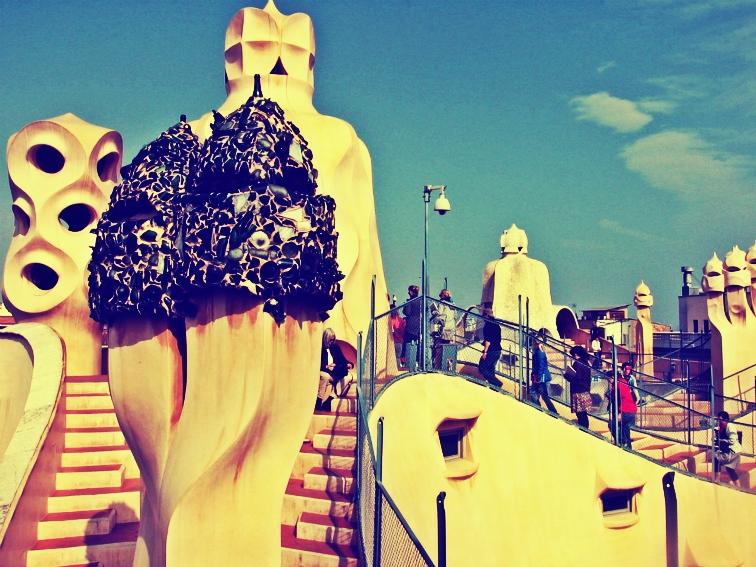 barcelona pedrera rooftop