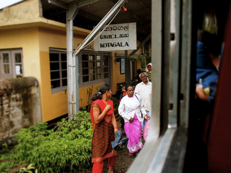 Kotagala train stop Sri Lanka