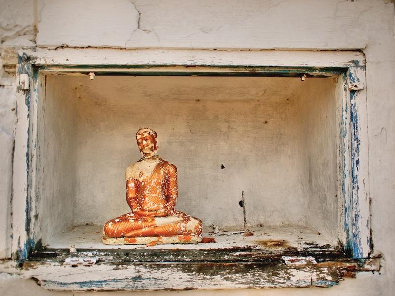 Broken Buddha in Sri Lanka