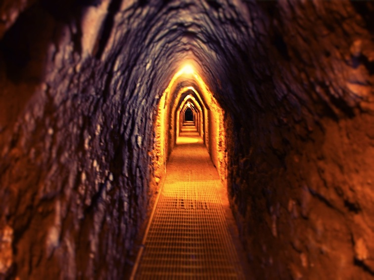 Tunnel beneath the Great Pyramid of Cholula