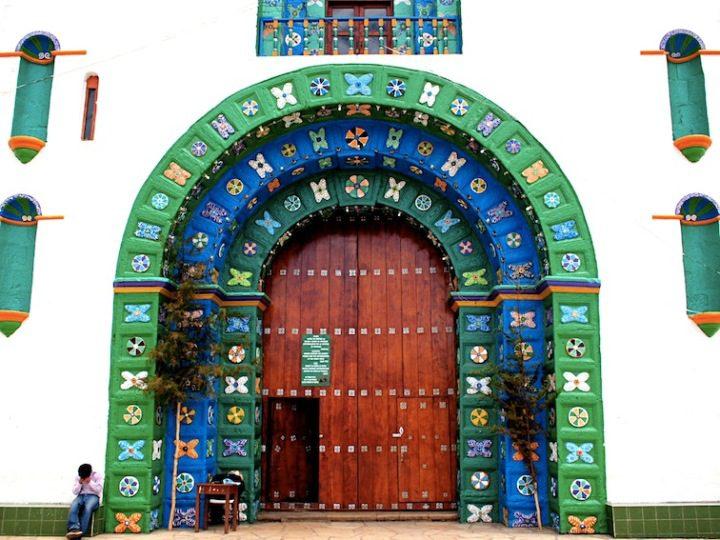 Cathedral of San Juan Bautista in San Juan Chamula