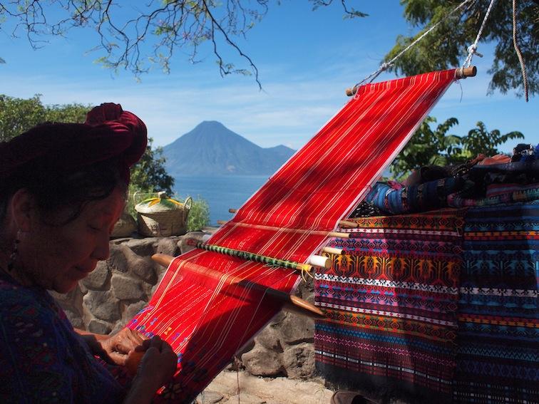 Panajachel Lake Atitlán weaver