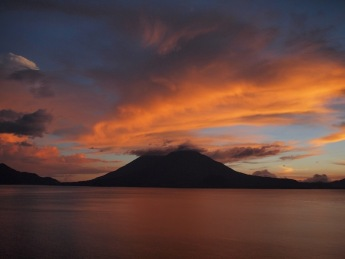 Sunset in Lake Atitlán
