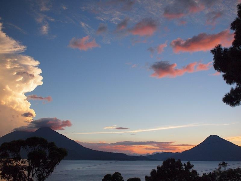 Clouds above Lake Atitlán