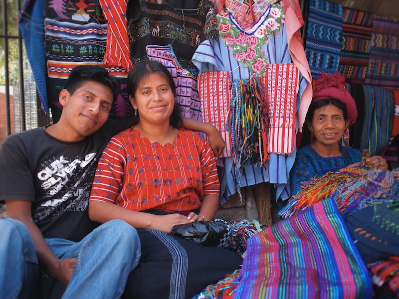 Merchant family in Panajachel