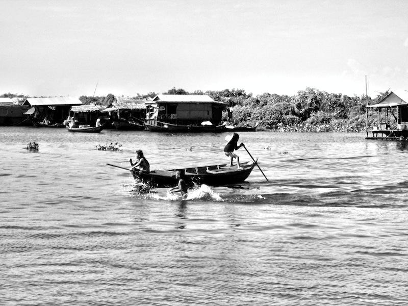 Kid on Tonle Sap