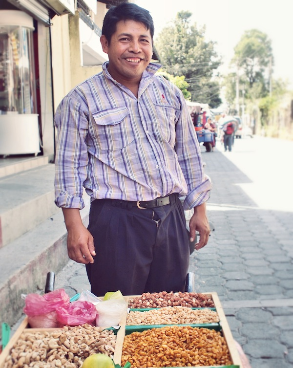 Nut seller in Panajachel