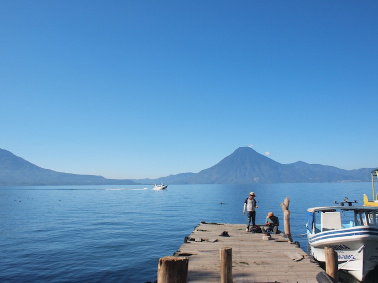 Dock by Lake Atitlán