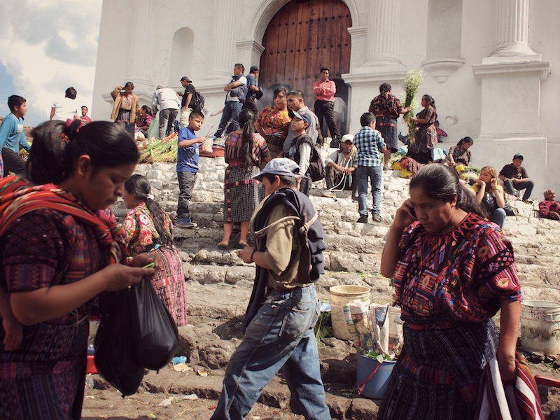 Santo Tomás Church Chichicastenango Sunday Market