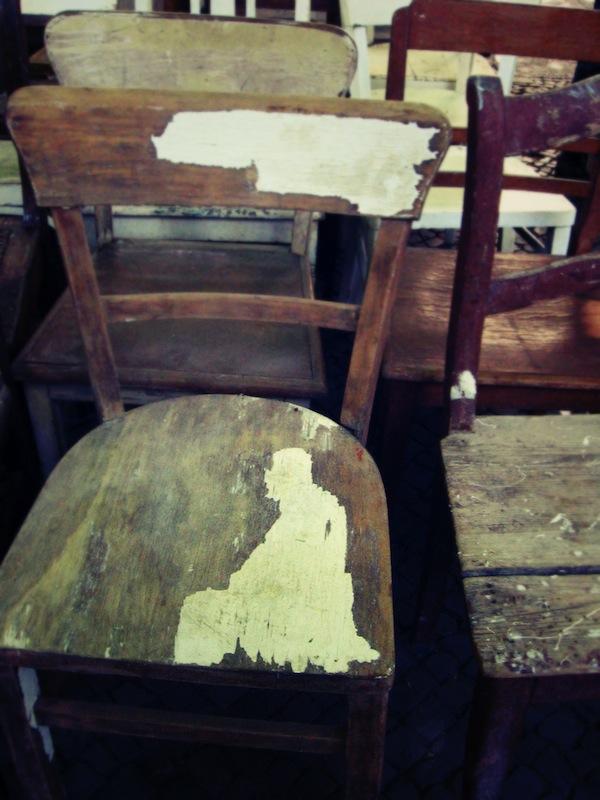 Flea market chair Berlin