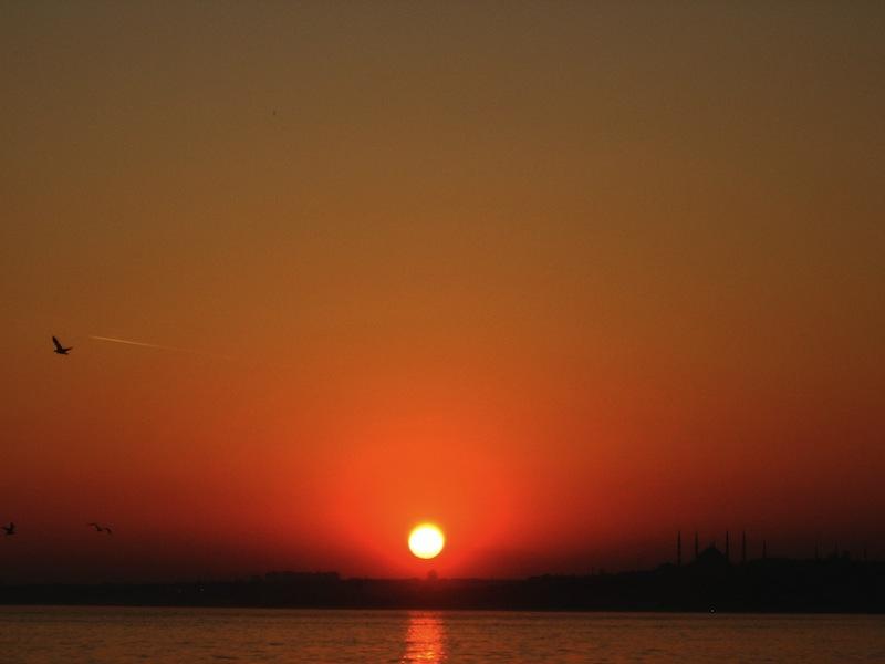 Sunset Bosphorus Istanbul
