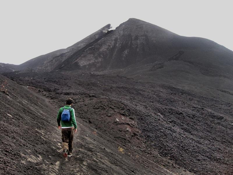 Climbing the Pacaya volcano