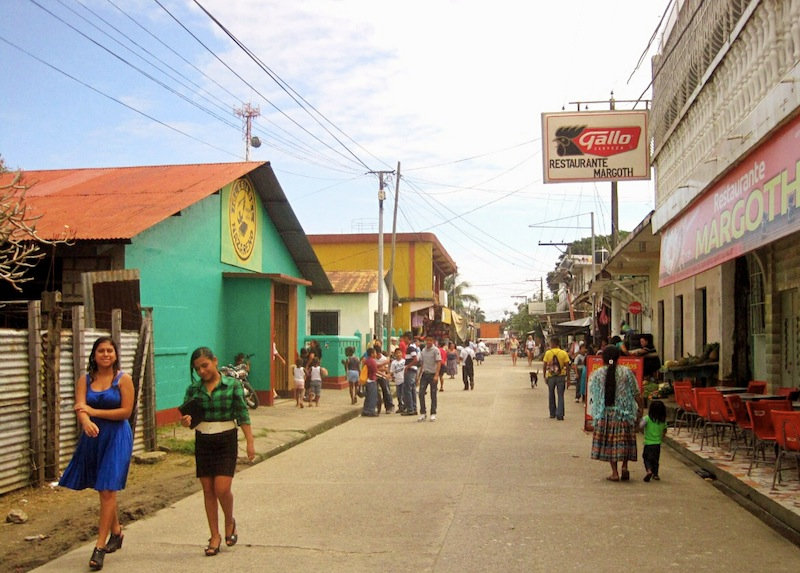 Streets of Livingston Guatemala