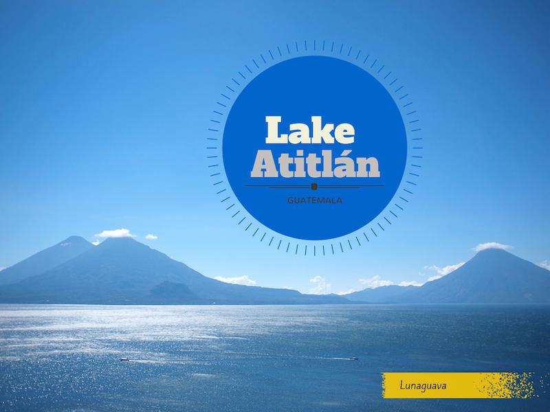 Lake Atitlan Guatemala postcard