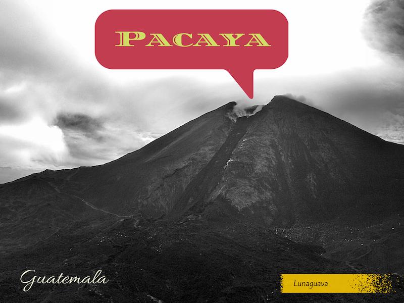 Pacaya volcano Guatemala postcard
