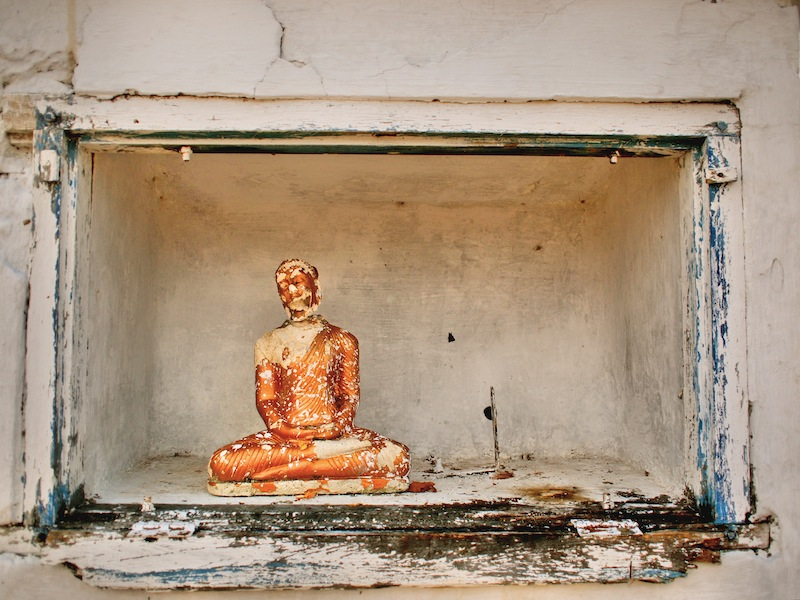Broken Buddha in Sri Lanka