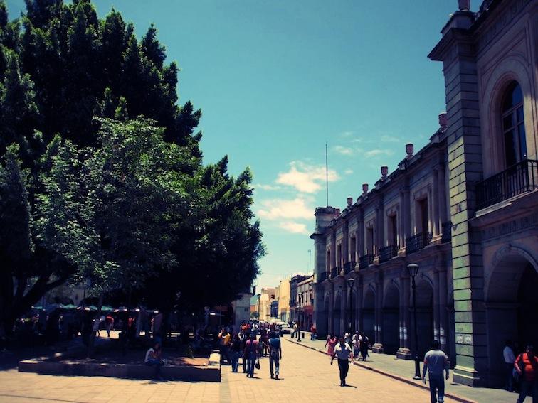 The Zócalo in Oaxaca