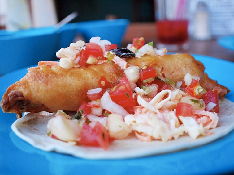 Best fish tacos at El Rey