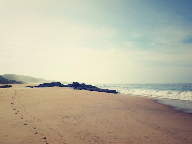 Sand tracks in Mermejita beach