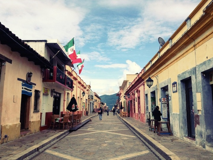 Real de Guadalupe street san cristóbal de las casas chiapas mexico