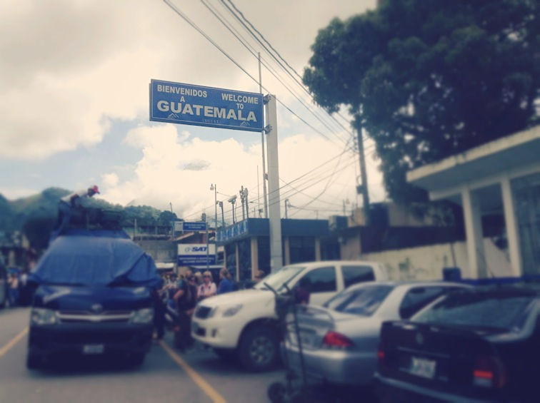 Mexico to Guatemala border