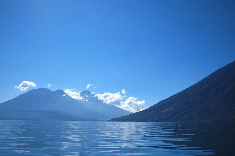 Volcanoes: Tolimán and Atitlán and base of San Pedro