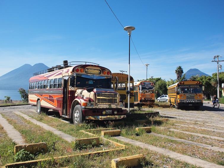 Panajachel chicken buses