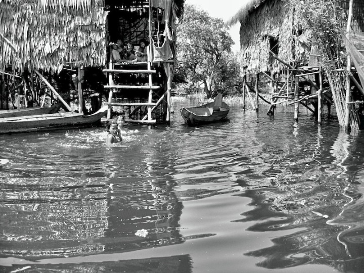 At play in the Tonle Sap