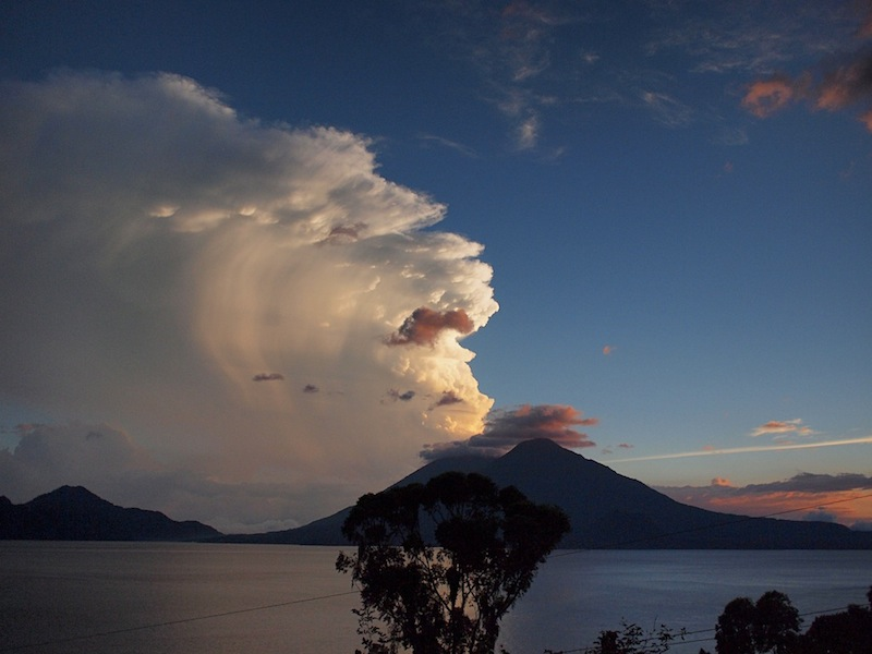Clouds above Lake Atitlán