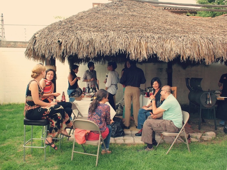 Friends in San Andrés Cholula