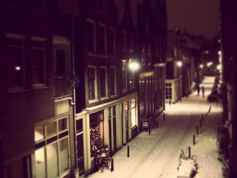 Amsterdam snow