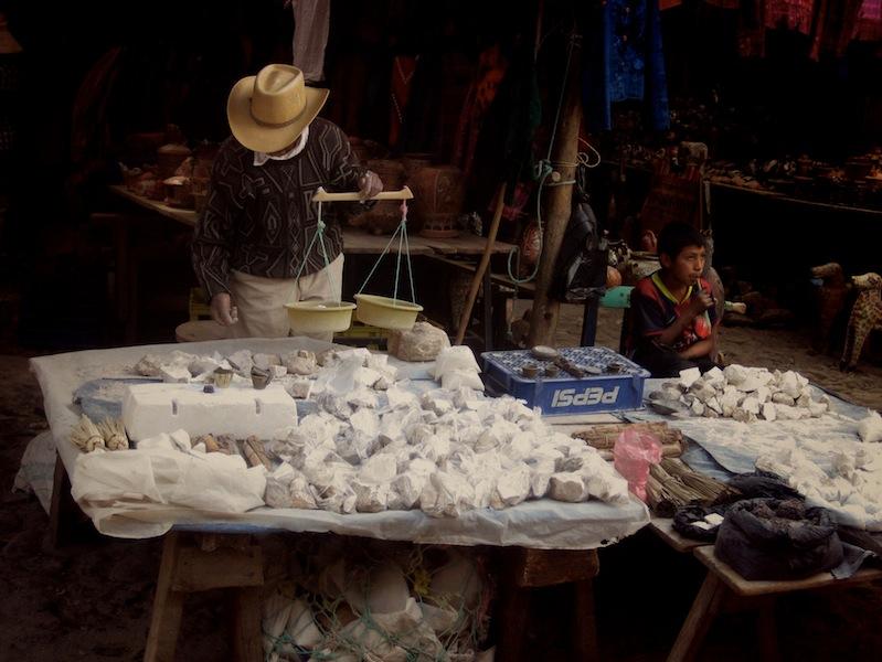 Selling cal at Chichicastenango Sunday Market