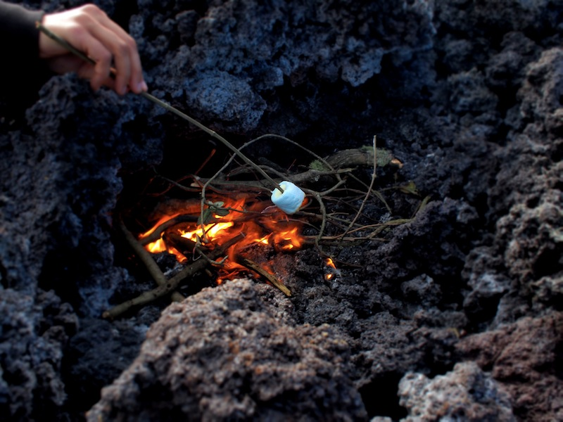 Marshmallows Pacaya volcano